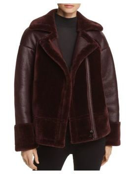 Faux Shearling Biker Jacket   100 Percents Exclusive by Whistles