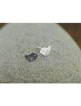 Gold Or Silver Mini Bird Stud Earrings by Etsy