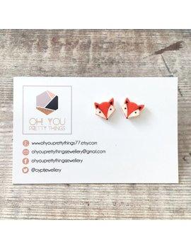 Fox Earrings   Foxes   Fox Gift   Stud Earrings   Orange Earrings   Autumn Earrings   Quirky Earrings   Small Earrings   Cute Earrings by Etsy