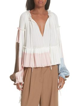 Pleated Peplum Top by 3.1 Phillip Lim