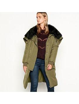 Nine By Savannah Miller   Khaki Faux Fur Lined Hooded Parka Coat by Nine By Savannah Miller