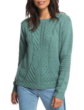 Glimpse Of Romance Cable Knit Sweater by Roxy