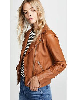 Washed Leather Moto Jacket by Madewell
