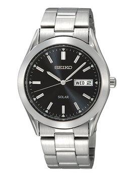 Watch, Men's Solar Stainless Steel Bracelet 37mm Sne039 by Seiko