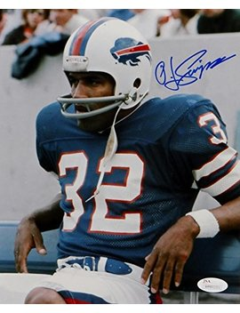 Oj Simpson Signed Autograph Buffalo Bills 8x10 Photo Sitting On Bench Photo  Jsa Certified by Sports Collectibles Online