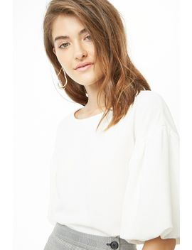 Boxy Balloon Sleeve Top by Forever 21