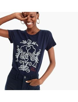"""Love Birds"" Embroidered T Shirt by J.Crew"