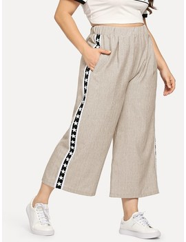 Plus Wide Leg Pant by Sheinside