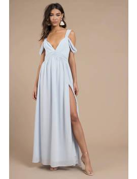 Eternal Flame Light Blue Maxi Dress by Tobi