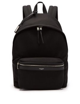 City Canvas Backpack by Saint Laurent