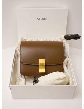 Celine Box Small Calfskin Classic Box Flap Camel   Brand New by CÉline