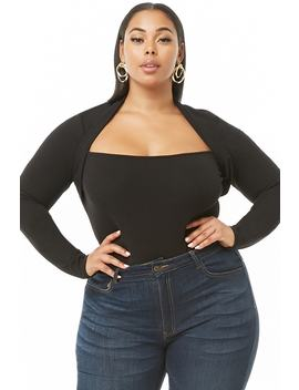 Plus Size Mock Twofer Top by Forever 21