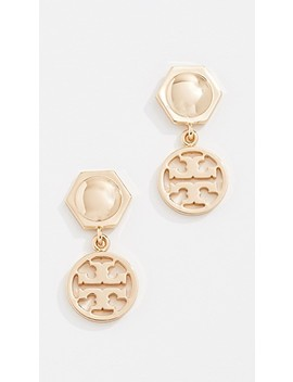Logo Drop Earrings by Tory Burch