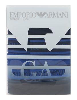 3pk Contrast Waistband Trunk by Emporio Armani