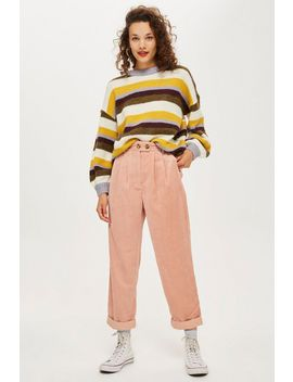 Tall Corduroy Peg Trousers by Topshop
