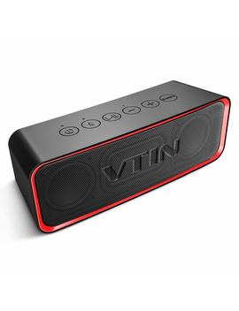 Vtin Portable Bluetooth Speaker With Ipx6 Waterproof, Support Deep Bass & Rich Mids/Highs Pitch Switching. Outdoor Portable Speaker With Hi Fi Tec, Aux Cable. Waterproof Speaker For Beach/Party/Dance by Vtin