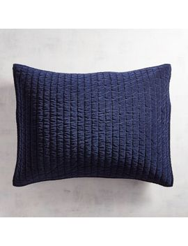 Atwood Velvet Navy Standard Pillow Sham by Pier1 Imports