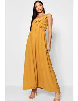 Ruffle Front Maxi Dress by Boohoo