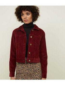 Burgundy Corduroy Jacket by New Look