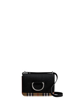 Mini D Ring Check Crossbody Bag by Burberry