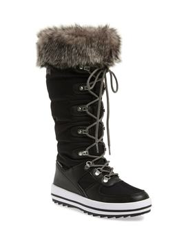 vesta-faux-fur-collar-knee-high-snow-boot by cougar
