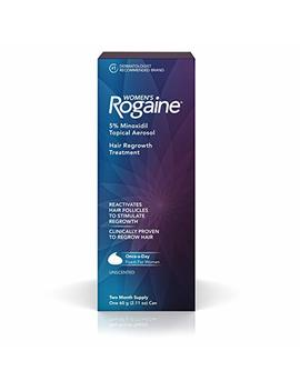 Women's Rogaine 5 Percents Minoxidil Foam For Hair Thinning And Loss, Topical Treatment For Women's Hair Regrowth, 2 Month Supply by Rogaine
