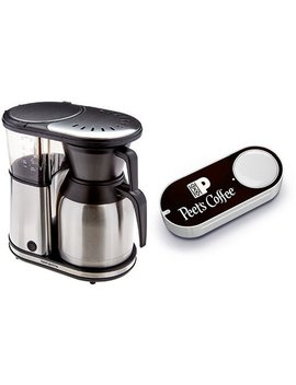 Bonavita Bv 1900 Ts 8 Cup Carafe Coffee Brewer, Stainless Steel & Peet's Coffee Dash Button by Amazon