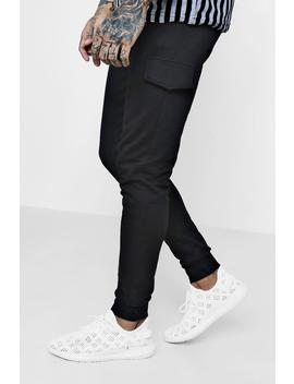Skinny Fit Cuffed Cargo Jogger by Boohoo