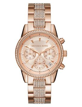 Ritz Pavé Chronograph Bracelet Watch, 37mm by Michael Kors