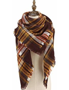 Cherry Cat Oversized Blanket Scarf Fall Plaid Shawl by Cherry Cat