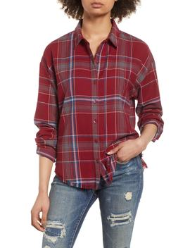 Frayed Edge Plaid Shirt by Bp.