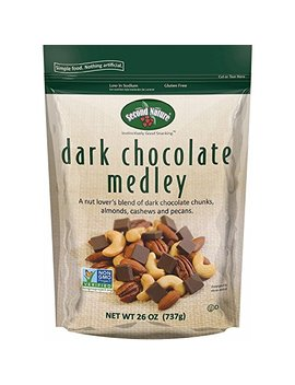 Second Nature Dark Chocolate Medley Trail Mix 26 Oz Resealable Pouch   A Nut Lover's Blend Of Dark Chocolate... by Second Nature