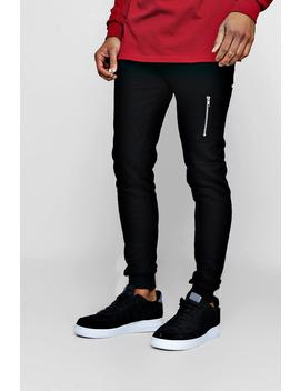 Skinny Joggers With Ma1 Side Pocket by Boohoo