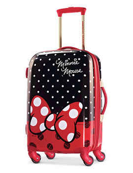 """Disney Minnie Mouse Red Bow 21"""" Hardside Spinner Suitcase By American Tourister by American Tourister"""