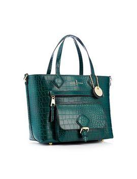 "J By Jasper Conran   Green ""Strawberry Hill"" Croc Effect Mini Shopper Bag by J By Jasper Conran"