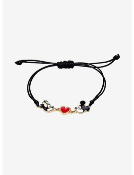 Disney Mickey Mouse 90 Years Mickey Loves Minnie Mouse Adjustable Bracelet by Hot Topic