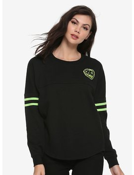 The Nightmare Before Christmas Halloween Town Girls Athletic Pullover by Hot Topic