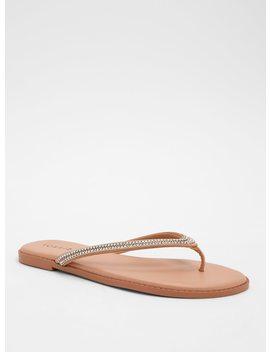 Gemstone Embellished Flip Flops (Wide Width) by Torrid