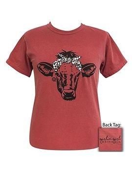 Girlie Girl Comfort Colors Leopard Bandana Cow Preppy Short Sleeve T Shirt by Girlie Girl Originals