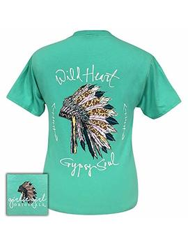 Girlie Girl Wild Heart Cool Mint Preppy Short Sleeve T Shirt by Girlie Girl Originals