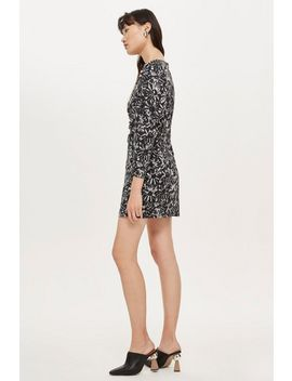Monochrome Daisy Ruched Mini Dress by Topshop