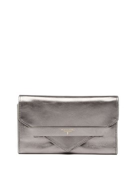Sienna Leather Envelope Flat Clutch by T Tahari