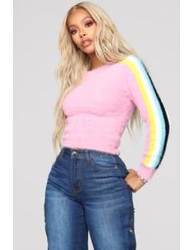 Tickle Me Pink Fuzzy Sweater   Pink by Fashion Nova