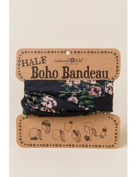 Boho Bandeau In Black Floral by Francesca's
