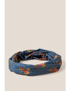 Boho Bandeau In Blue Floral by Francesca's
