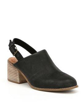 Leila Slingback Block Heel Mules by Toms