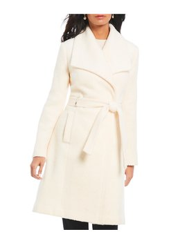 Belted Wrap Wool Blend Coat by Ivanka Trump