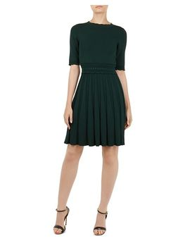 Dorlean Scalloped Knit Dress by Ted Baker