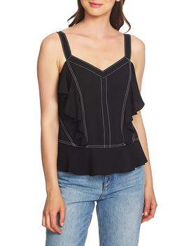 Ruffle Contrast Stitch Camisole by 1.State