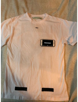 Off White C/O Virgil Abloh 3 D Painting Arrow Tshirt White Size Us Medium by Off